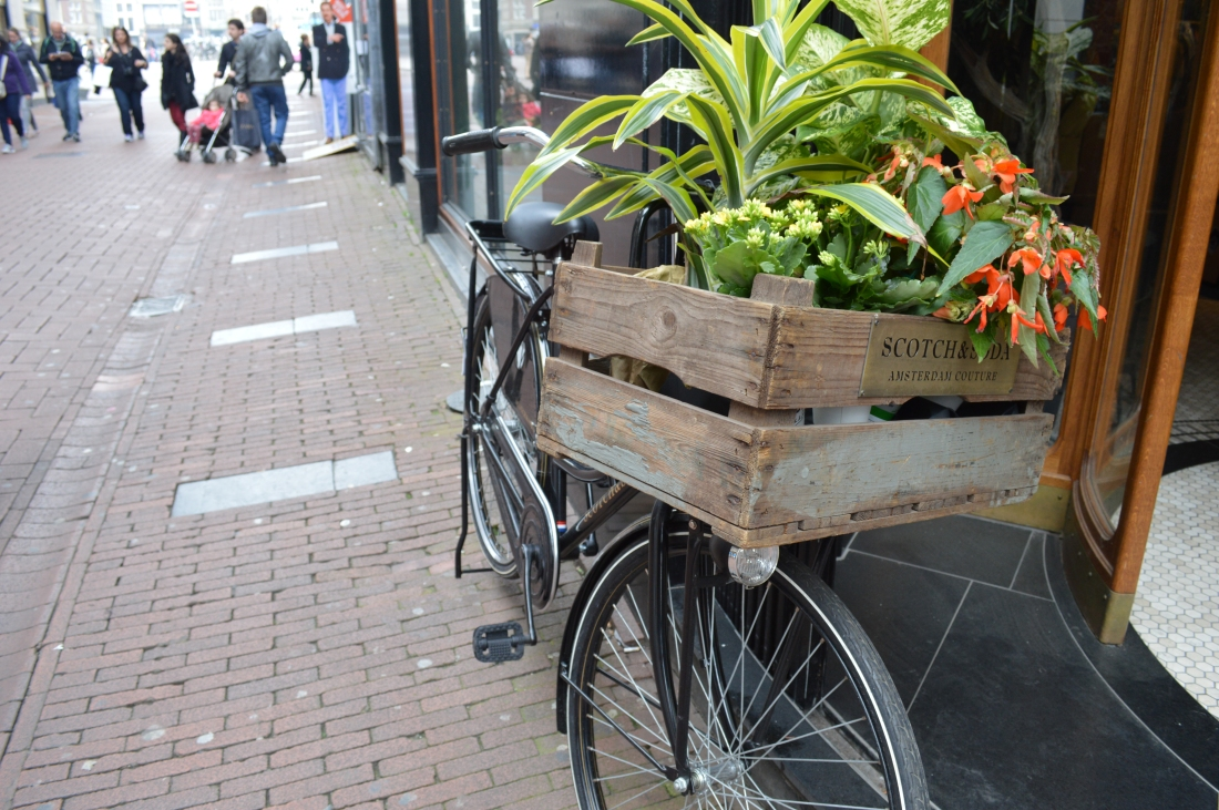 A picture of a bike in Amsterdam